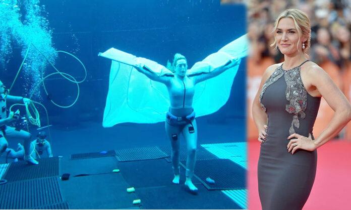 Kate Winslet Shot Scenes Underwater in Avatar 2