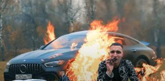 Russian YouTuber Mikhail Litvin Protested by Burning his Mercedes
