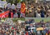 Farmers Stopped at Haryana on their Protest March to Delhi