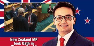 New Zealand MP took Oath in Sanskrit
