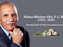 TCS Founder and Father of Indian IT Industry Mr. Faqir Chand Kohli (Mr. F C Kohli)
