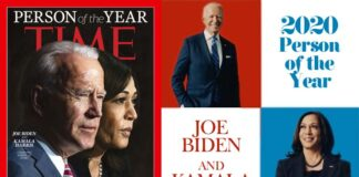 Joe Biden and Kamala Harris Time Magazine's Person of the Year 2020