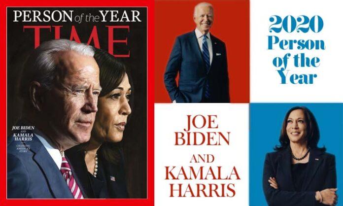 Joe Biden and Kamala Harris Time Magazine's Person of the Year 2020
