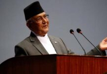 The Prime Minister of Nepal KP Sharma Oli