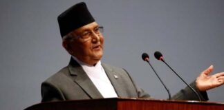 The Prime Minister of Nepal KP Sharma Oli