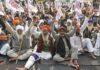 Farmers Observing Fast on Mahatma Gandhi's Death Anniversary